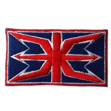 ALTERED UNION JACK MOTIF IRON ON EMBROIDERED PATCH APPLIQUE